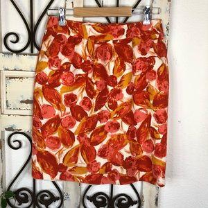 Halogen silk blend pencil skirt